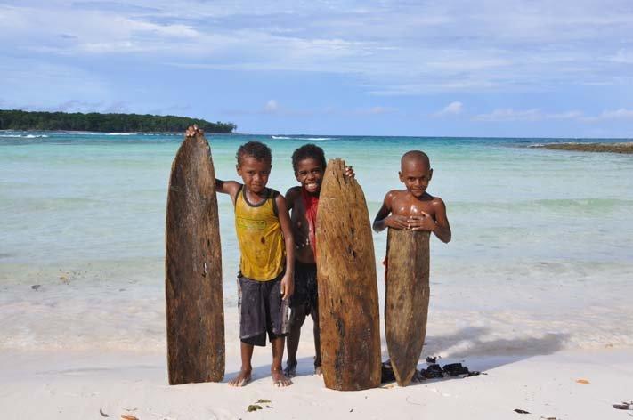 Surfer from Loh, Torres island, Vanuatu